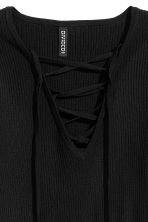 Top with lacing - Black - Ladies | H&M 3